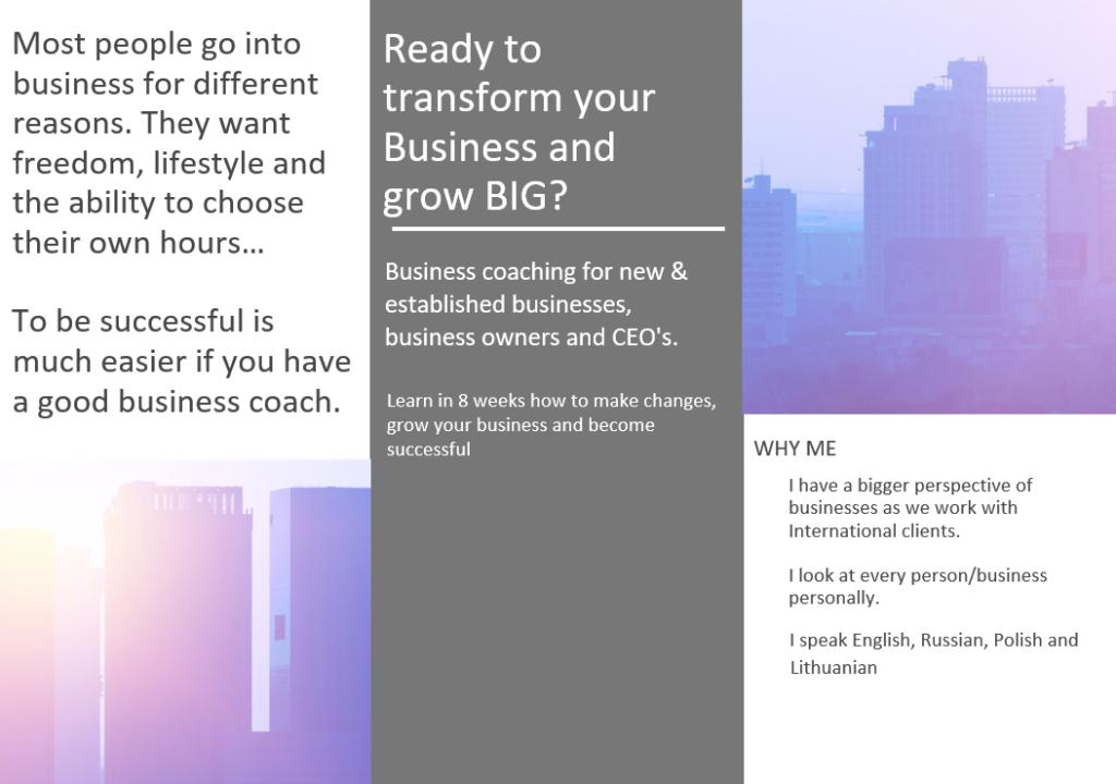 8 Weeks Individual Business Coaching
